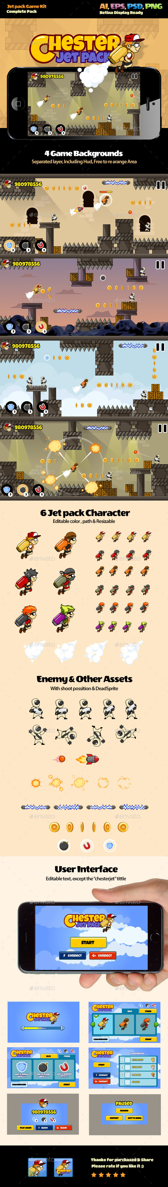 Jet Pack Kit - Game Kits Game Assets