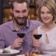 Picture Of Engaged Couple With Wine Glasses - VideoHive Item for Sale