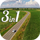 Aerial Road with Cornfield - VideoHive Item for Sale