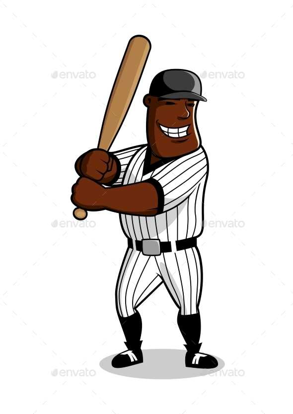Cartoon Baseball Player Character - Sports/Activity Conceptual