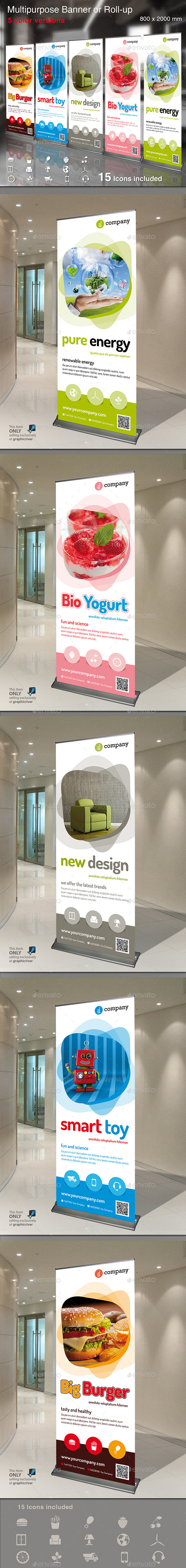 Multipurpose Banner or Rollup - Signage Print Templates