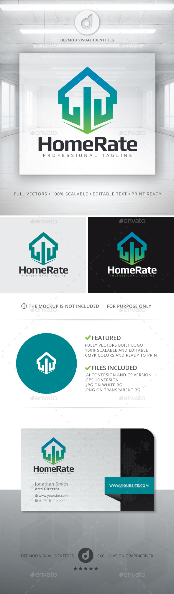 Home Rate Logo - Buildings Logo Templates