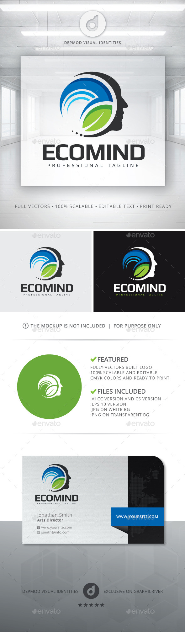 Eco Mind Logo - Humans Logo Templates