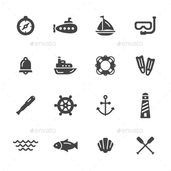 Nautical Icons - Objects Icons