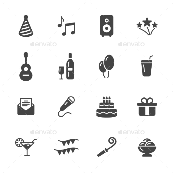 Party Icons - Man-made objects Objects