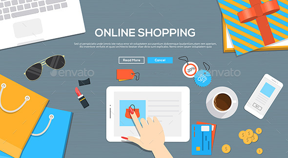 Online Shopping Concept - Commercial / Shopping Conceptual