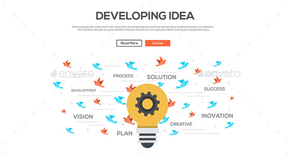Flat Design Graphic Image Concept - Concepts Business