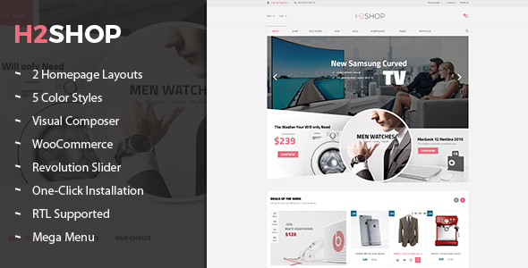 H2shop – Multipurpose WooCommerce WordPress Theme