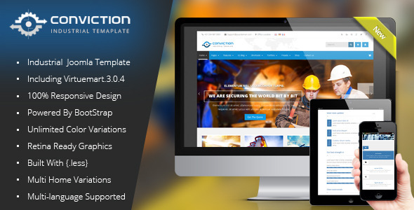 Conviction – Responsive Multi-Purpose Joomla Theme