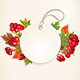 Autumn Label with Viburnum and Colorful Leaves - GraphicRiver Item for Sale