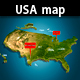 USA Illustrated Map - GraphicRiver Item for Sale
