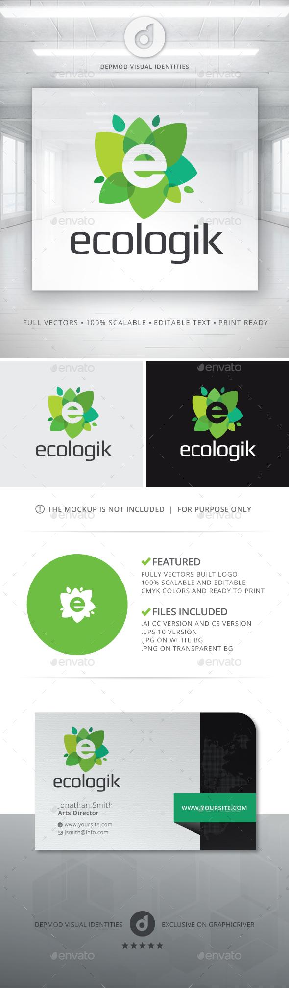 Ecologik Logo - Letters Logo Templates
