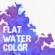 Flat Watercolor Backgrounds - GraphicRiver Item for Sale