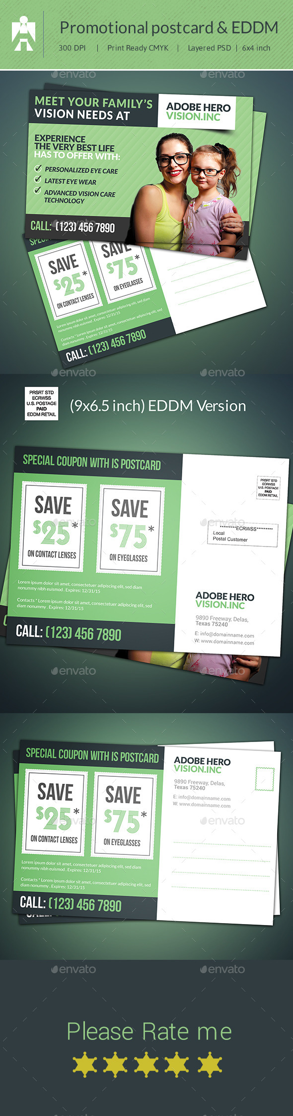 eddm postcard template postcard amp direct mail eddm by adobehero graphicriver 21440