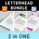Letterhead Bundle 4 - GraphicRiver Item for Sale