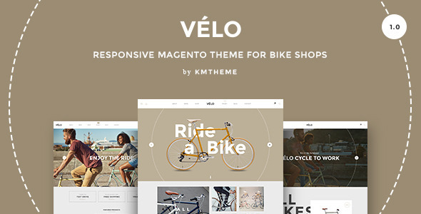 Velo – Responsive Magento Theme for Bike Shops