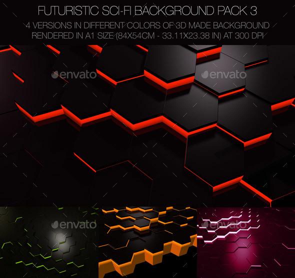 Futuristic Sci-FI Background Pack 3 - 3D Backgrounds