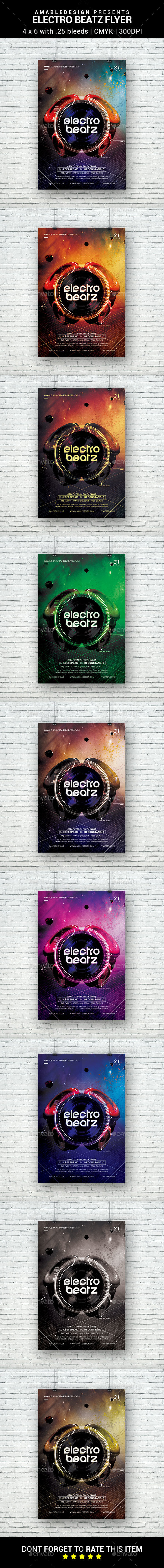 Electro Beatz Flyer - Clubs & Parties Events