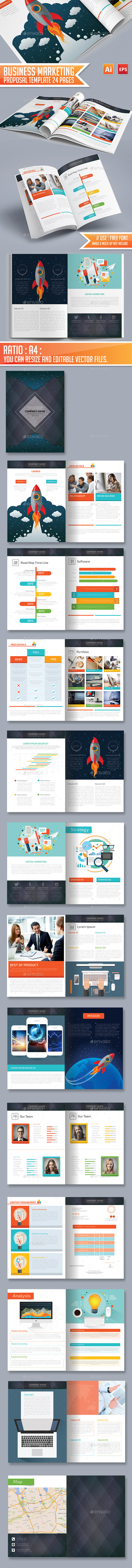 Business Marketing Proposal Template 24 Pages - Informational Brochures