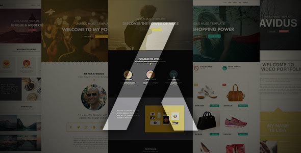 Avidus - Multipurpose Muse Template for Creatives & Agencies - Creative Muse Templates
