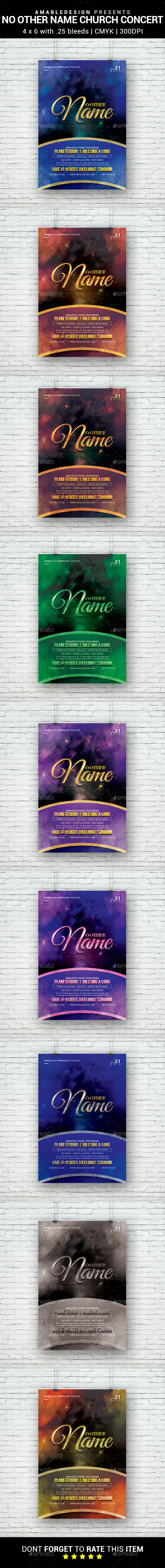 No Other Name Church Concert Flyer - Church Flyers