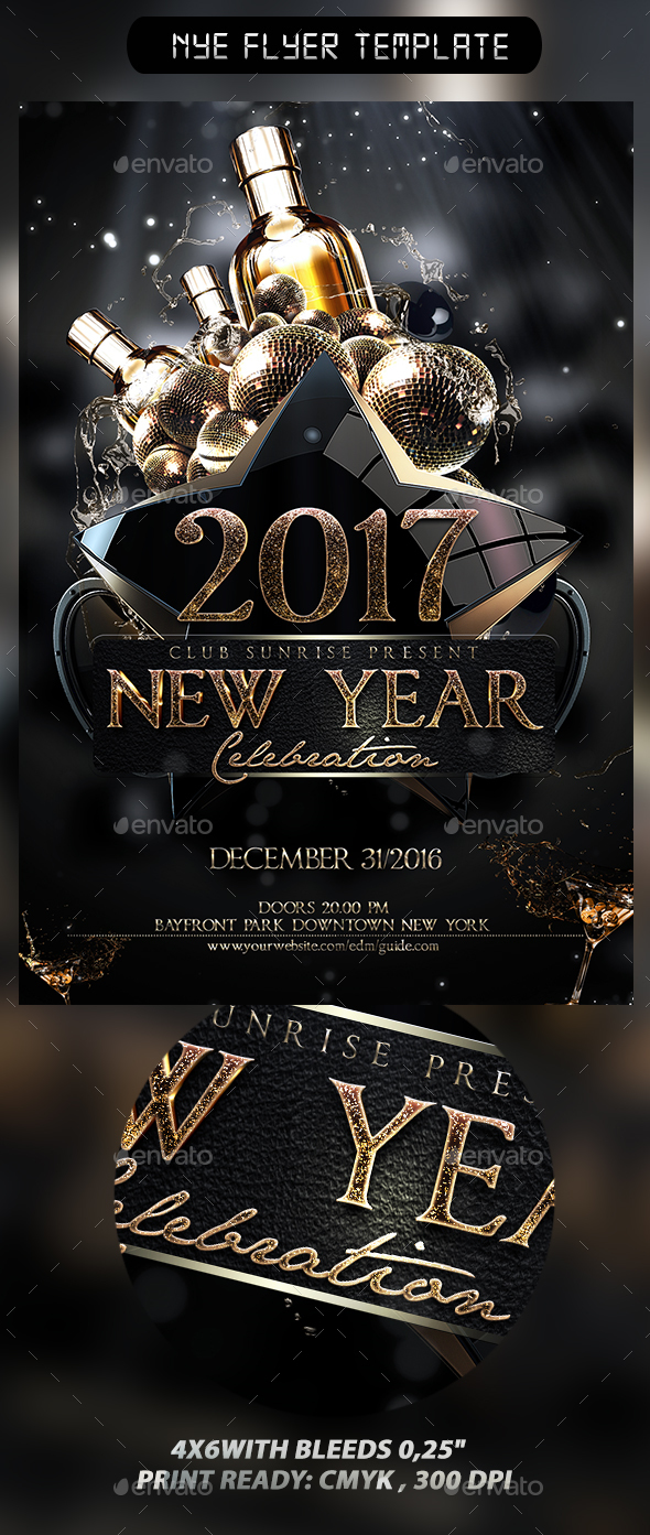 NYE Flyer Template - Events Flyers