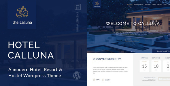 Hotel Calluna – Hotel & Resort & WordPress Theme