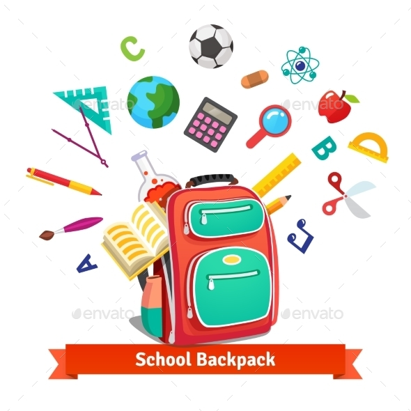 Back to School Student Backpack - Man-made Objects Objects