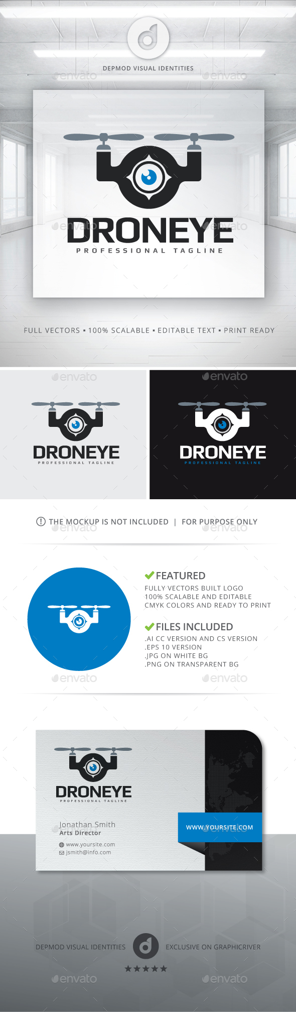Drone Eye Logo - Objects Logo Templates