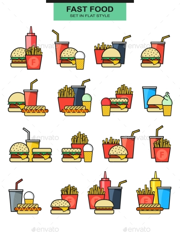Fast Food Meals - Food Objects