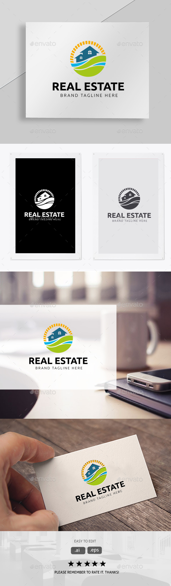 Real Estate - Symbols Logo Templates