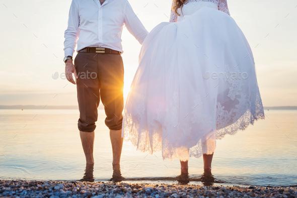 Beautiful wedding couple - Stock Photo - Images