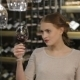 Beautiful Young Woman Tasting Red Wine - VideoHive Item for Sale