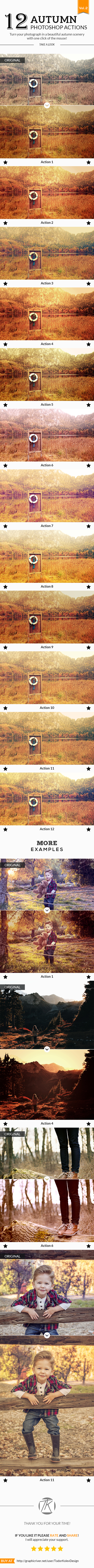 12 Autumn Photoshop Actions No.02 - Photo Effects Actions