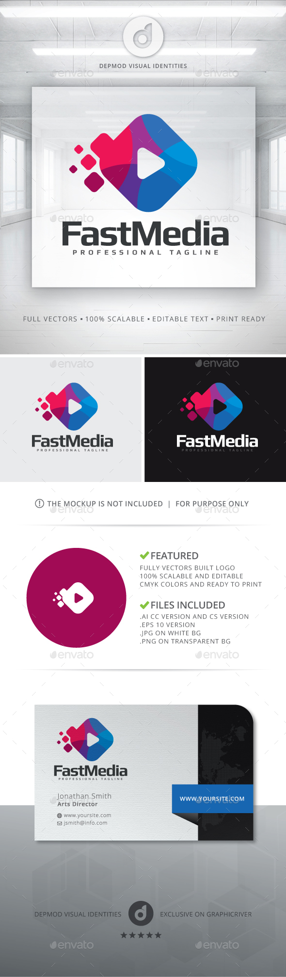 Fast Media Logo - Symbols Logo Templates