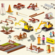Construction Project Infographic - GraphicRiver Item for Sale