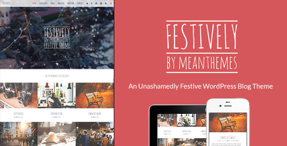 Festively: An Unashamedly Festive Blog Theme