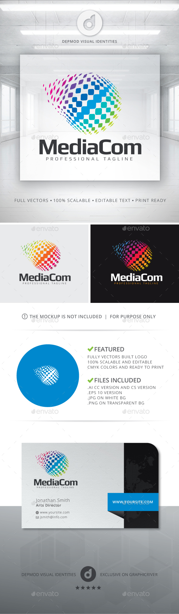 MediaCom Logo - Abstract Logo Templates