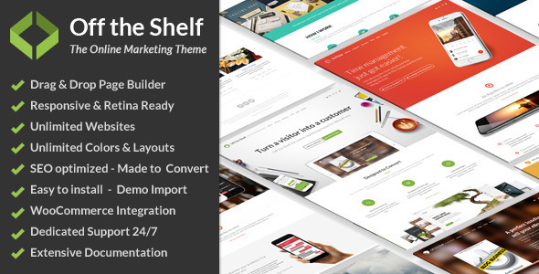 Off the Shelf Online Marketing Theme for WordPress - ThemeForest Item for Sale