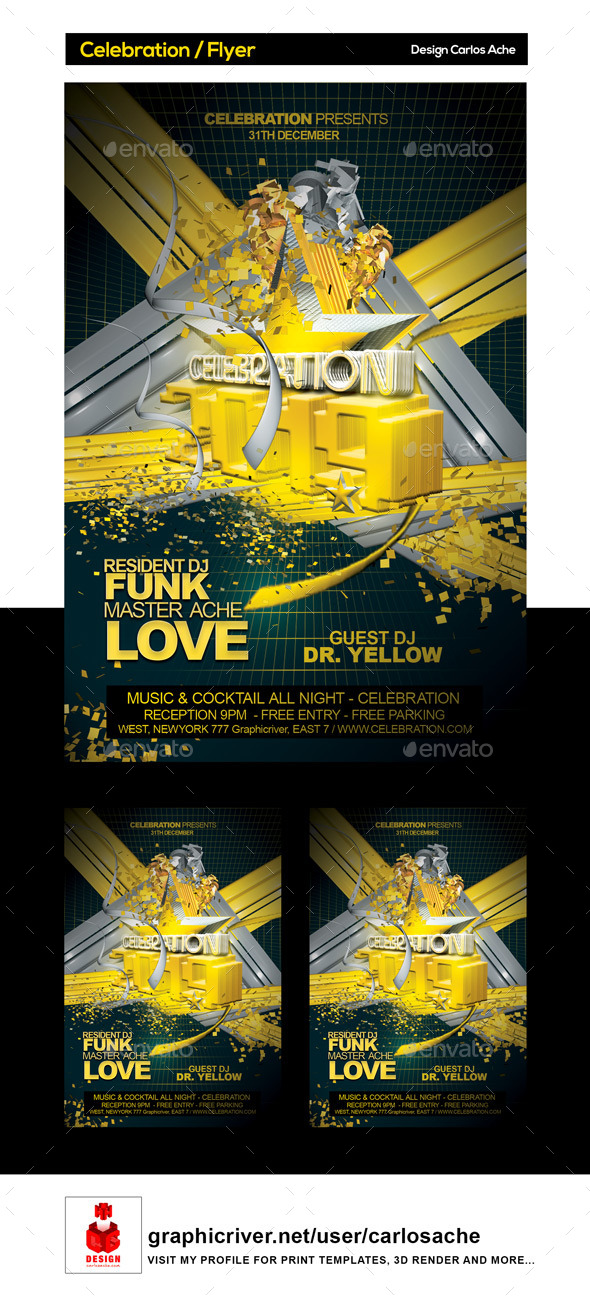Celebration / Flyer Template - Clubs & Parties Events