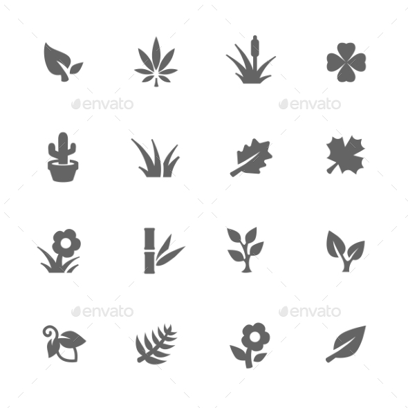 Simple Plants Icons - Icons