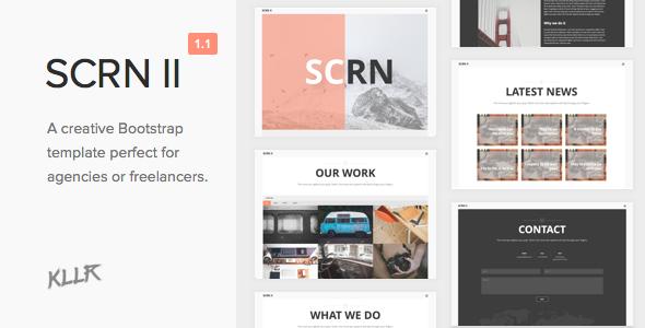 SCRN II - Creative HTML Template - Creative Site Templates