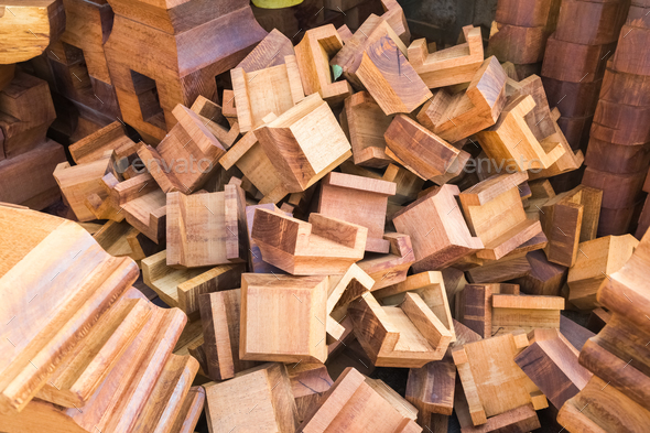 wooden building components - Stock Photo - Images