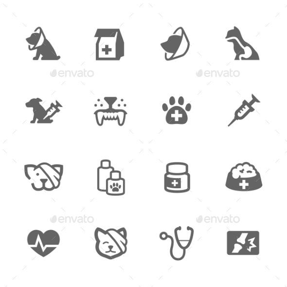 Simple Pet Vet Icons - Icons