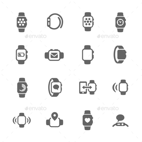 Smart Watch Icons - Icons