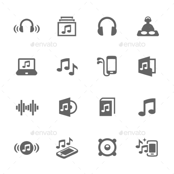 Simple Sound Icons - Icons