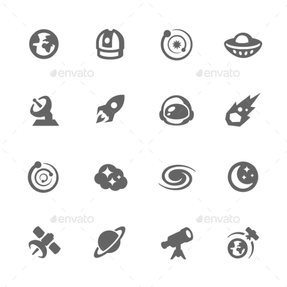 Simple Space Icons - Icons