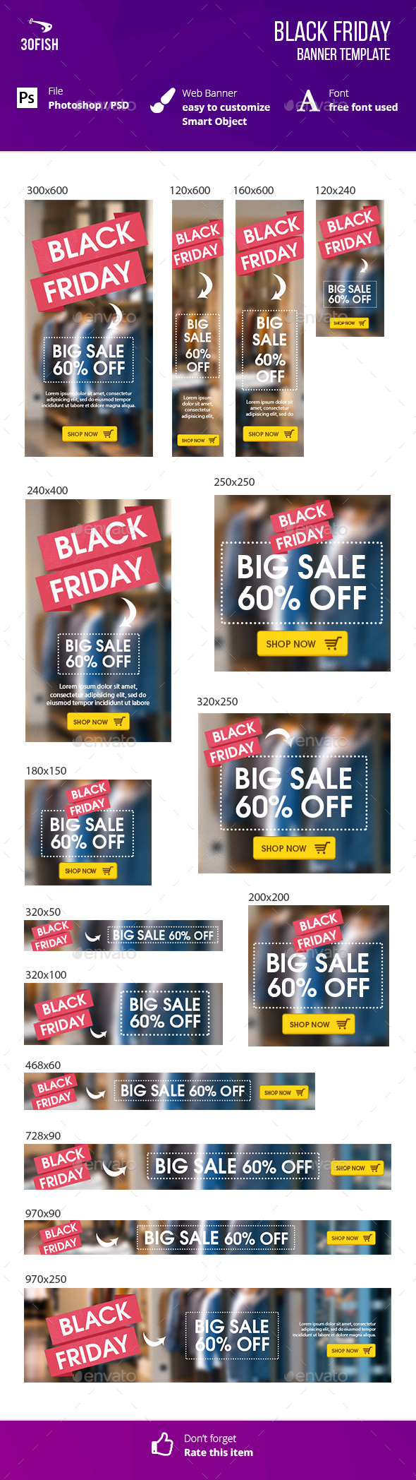 Black Friday Banner - Banners & Ads Web Elements