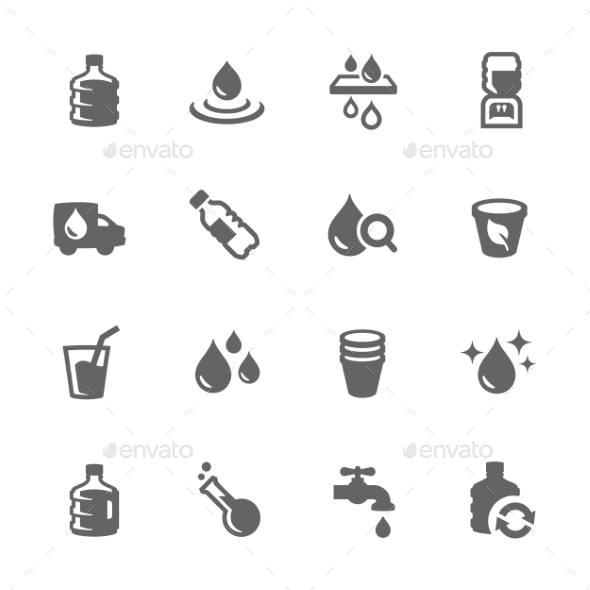Simple Water Icons - Icons