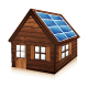 Wooden house with solar panels - GraphicRiver Item for Sale